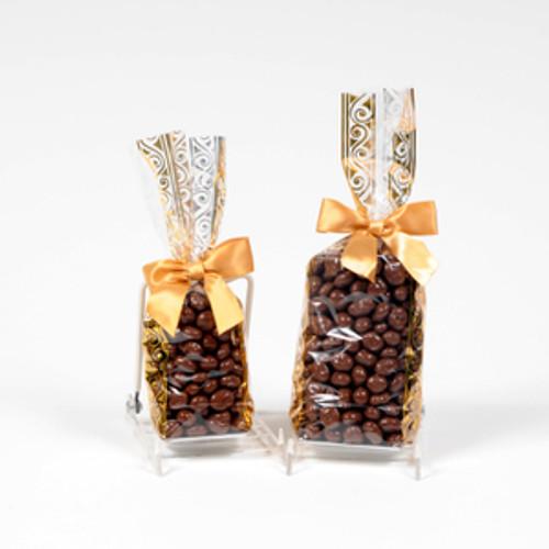 Half and full pound bag of Milk Chocolate Raisins.
