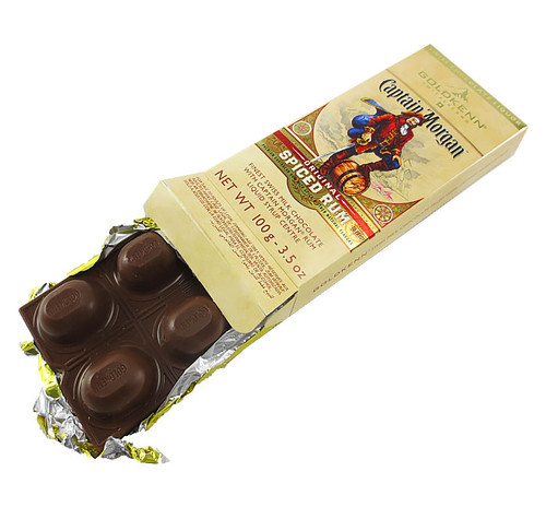 Captain Morgan liquor chocolate bar