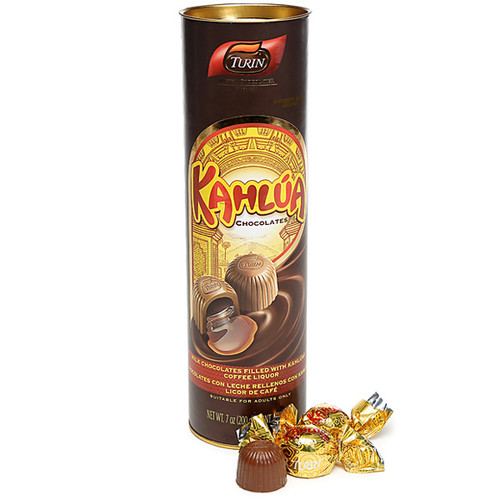 kahlua liquor filled chocolates packaged in a tube