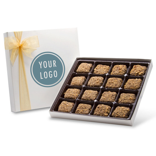 Customize your own Chocolate Box - 1lb Toffee Box with Custom Logo for Corporate Gifts