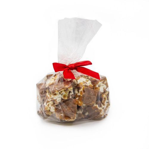 Poparazzi Small Gift Bag - Milk Chocolate popcorn gift bag for Christmas stocking stuffer or Valentine's Day chocolate gift