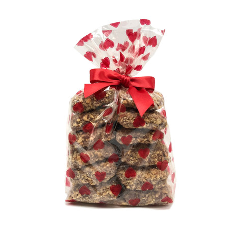Toffarazzi - 1lb Toffee gift bag with red hearts