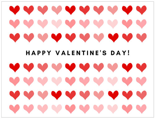 Gift Message Card - Valentine's Day - Double-sided Card with hand-written gift message on back