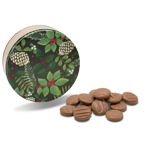Festive Pine Holiday Chocolate Tin with Turtlerazzi