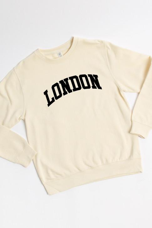 Vanilla Oversized London Print Sweatshirt