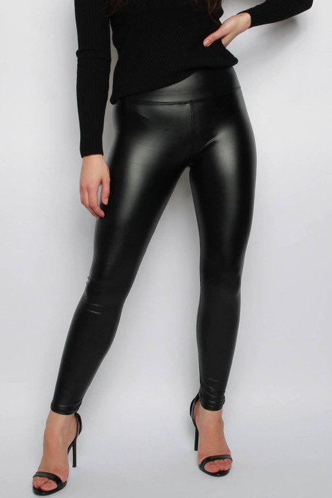 Black Wet Look Leggings