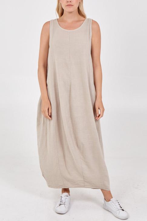Sleeveless Linen Maxi Dress