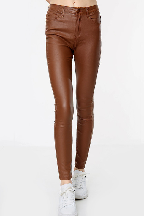 Women's Brown Stretch Mid Rise Jeans