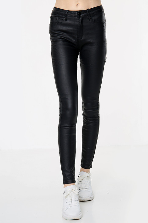 Black Stretch Mid Rise Jeans