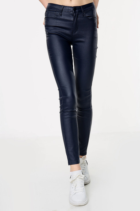 Navy Stretch Mid Rise Jeans