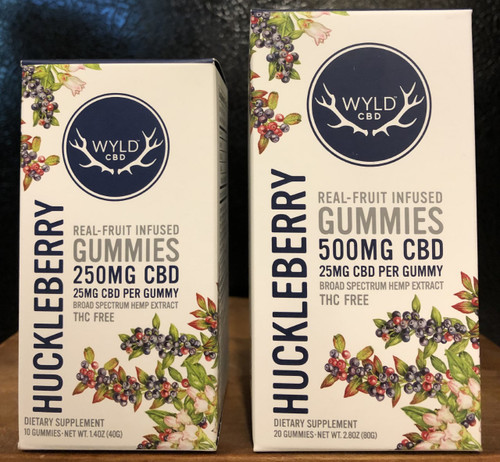 Wyld Broad Spectrum CBD Gummies 25mg Huckleberry 20 count