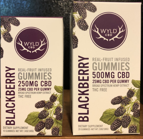 Wyld Broad Spectrum CBD Gummies 25mg Blackberry 20 count
