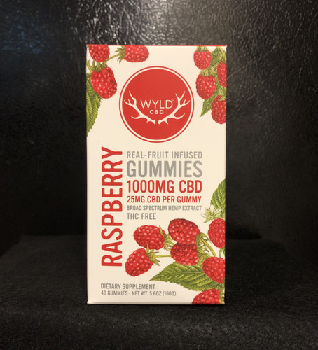 Wyld Broad Spectrum CBD Raspberry Gummies 40 Count