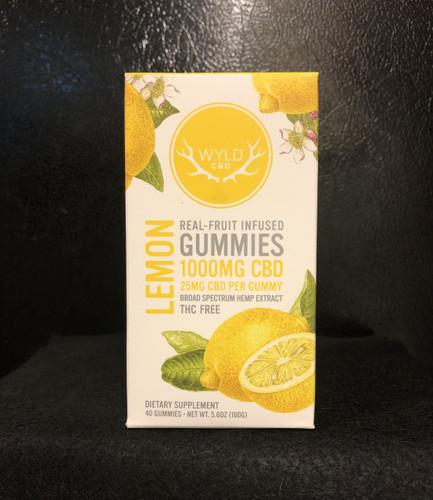 Wyld Broad Spectrum CBD Lemon Gummies 40 Count