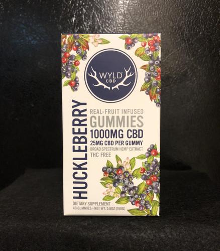 Wyld Broad Spectrum CBD Huckleberry Gummies 40 Count