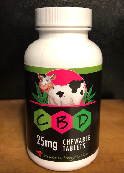 Happy Cow CBD 25mg Chewable Tablets