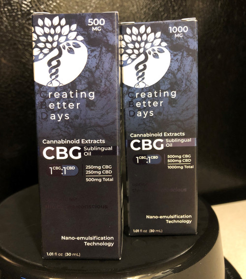 Creating Better Days CBD+CBG Nano 500mg
