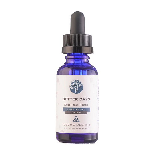 Creating Better Days Sublime Elixir Sublingual 1000mg Delta 8