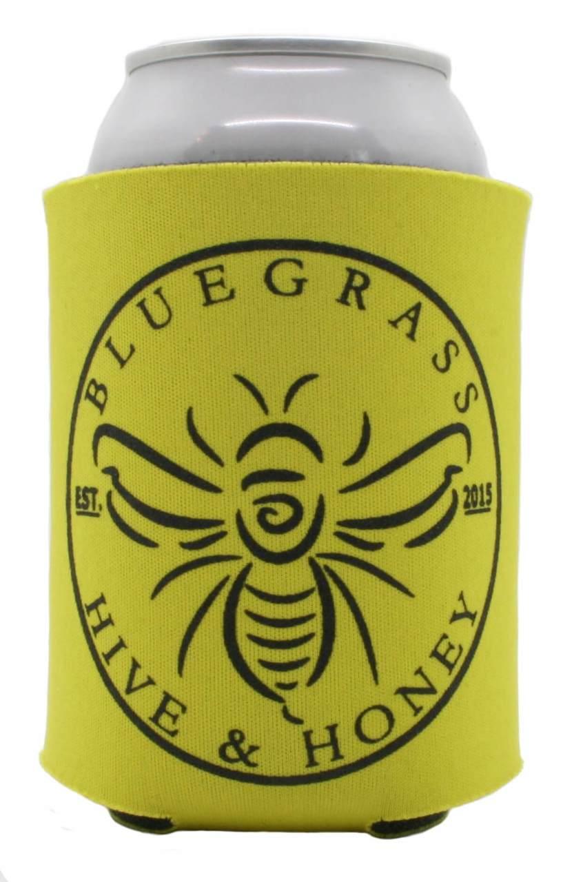 Bluegrass Hive and Honey Yellow Beer-d Koozie
