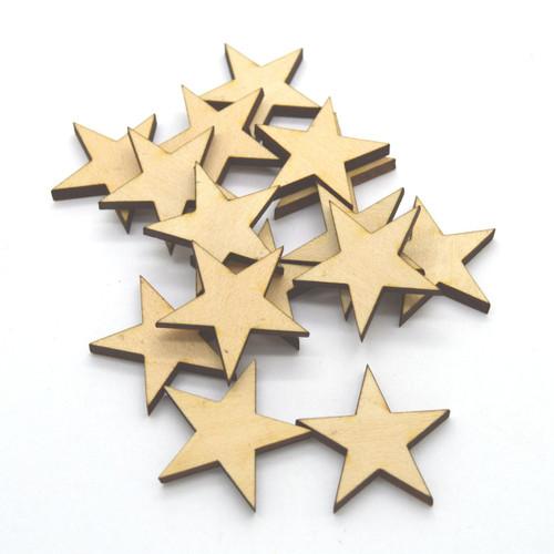 50 Laser cut wooden stars