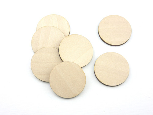 50 Laser cut wooden circles - blanks