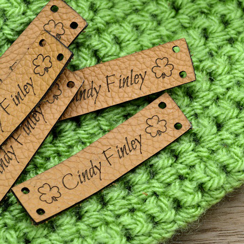 50 Laser engraved labels 0.5x2 inches - made from real leather - Leather labels, Personalized leather labels, Leather tags , Custom Labels