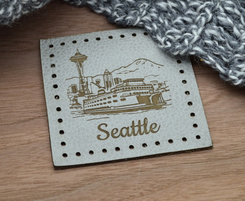 DESIGN YOUR OWN: Individual Large Laser Engraved Leather Patches - made from genuine leather