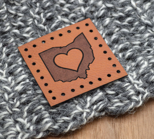 DESIGN YOUR OWN: Individual Large Laser Engraved Leather Patches - made from faux leather