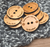 "100 Wooden Buttons - 1"" size - Ideal for crochet and knitted products - laser cut and engraved to your specifications"