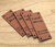 """Custom Faux Leather square labels, 0.85"""" x 2.25"""", sold in sets of 25 - Let us customize them for you or use our Designer tool"""