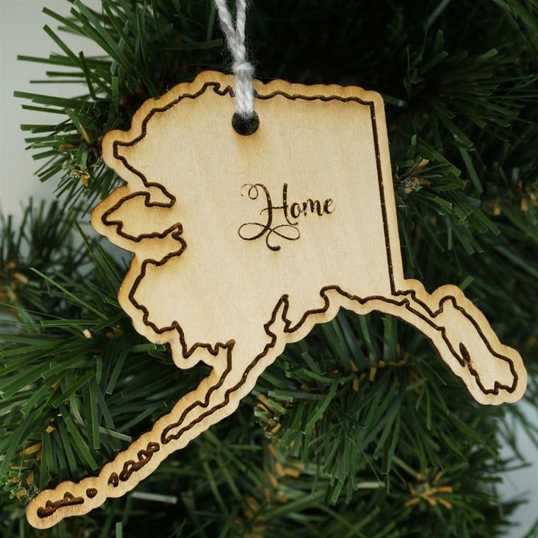State Ornament Alaska Home