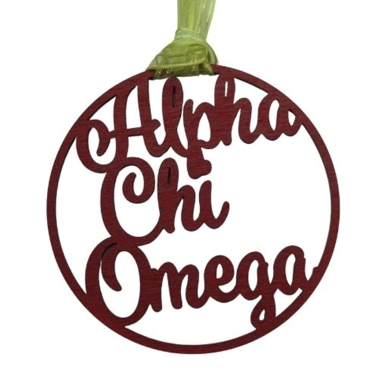Alpha Chi Omega door hanger