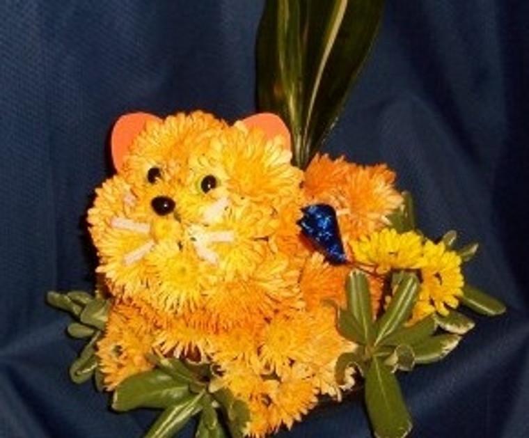 Flower Power Kitty flower creation