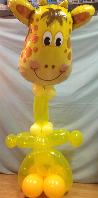 Jolly giraffe balloon character creation