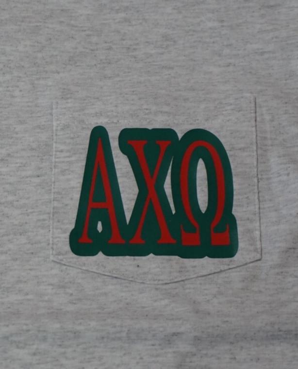 Alpha Chi Omega pocket t shirt