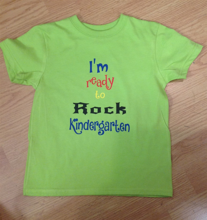I'm ready to rock Kindergarten t-shirt