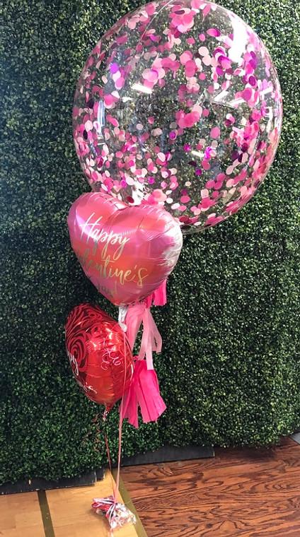 Valentine's Confetti Ball Bouquet