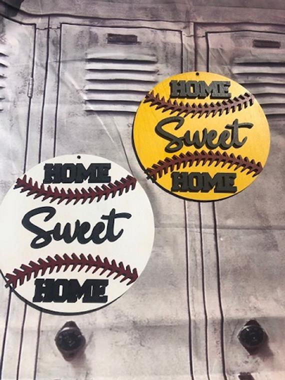 Baseball or Softball Home Sweet Home Sign