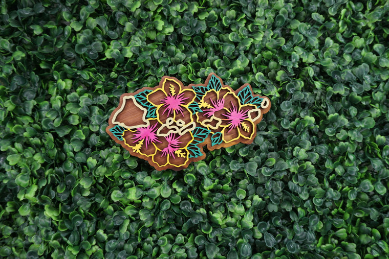 Hawaii State Flower Ornament/Magnet