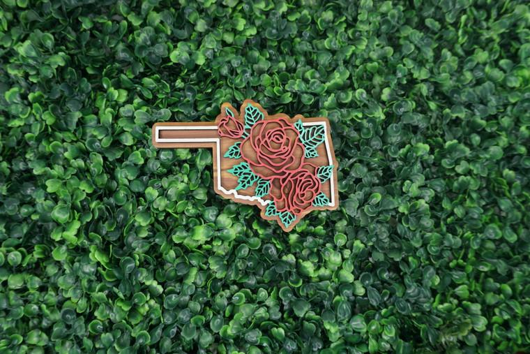 Oklahoma State Flower Ornament/Magnet
