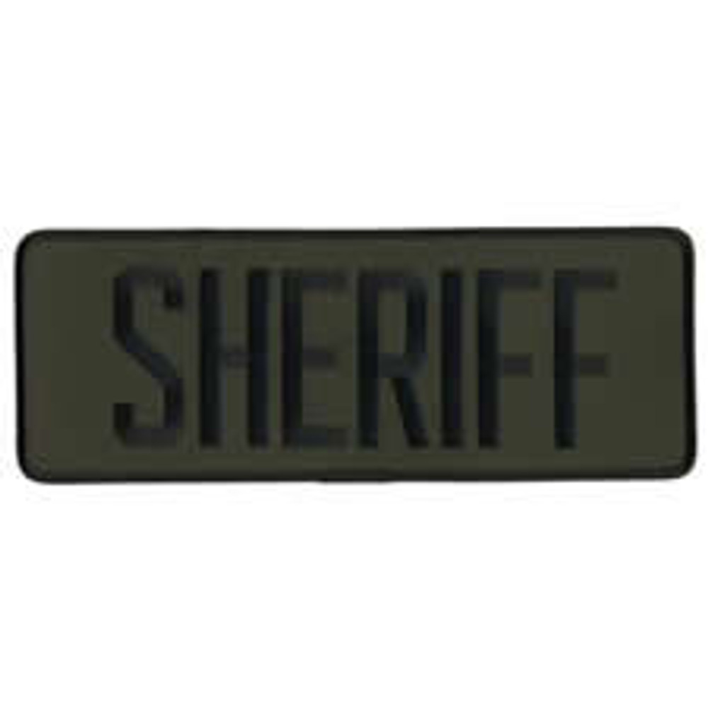 Sheriff Back Patch 9x3""