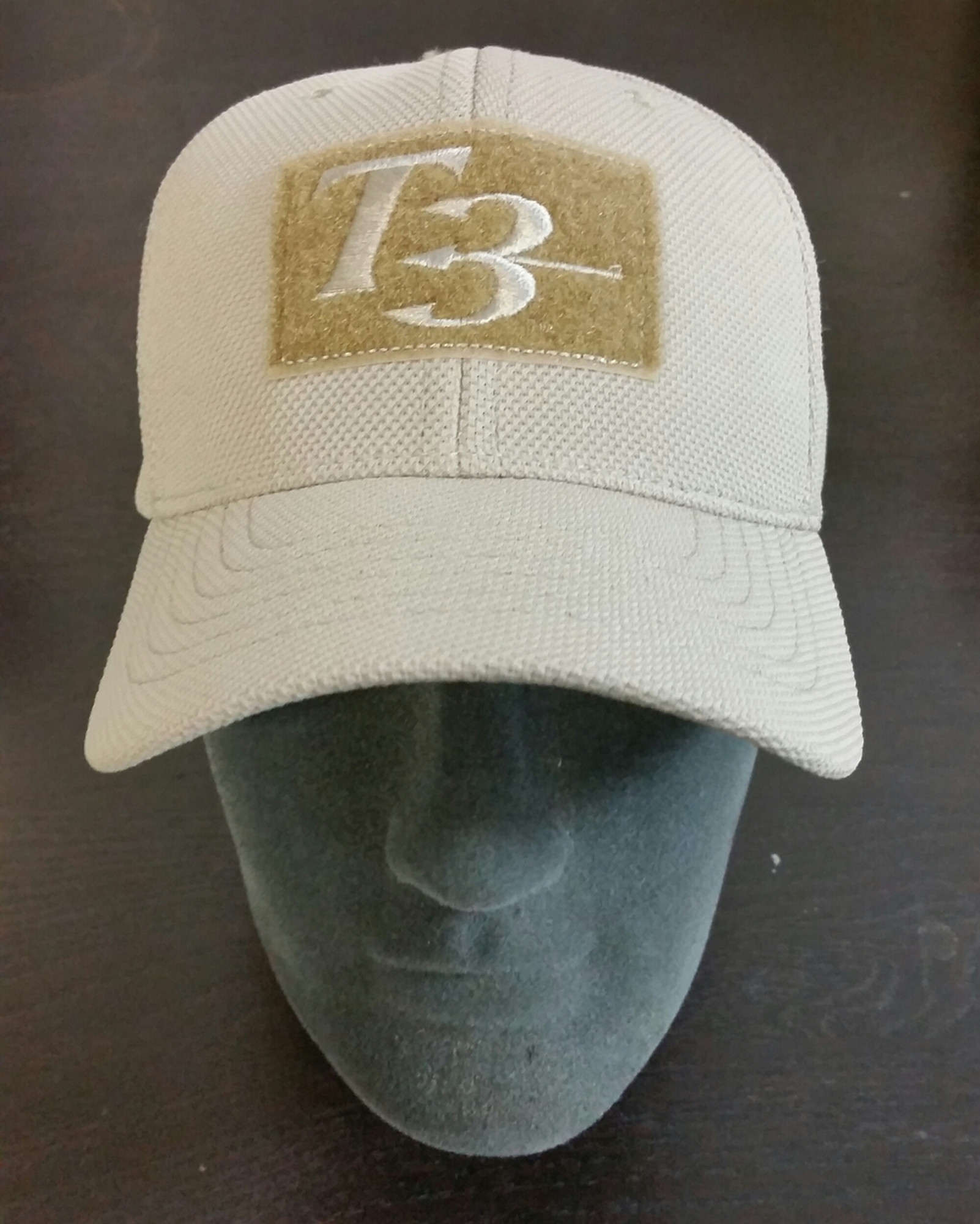 6c9996c04 T3 Embroidered Hat Adjustable, Khaki Color, Velcro patches on Front ...