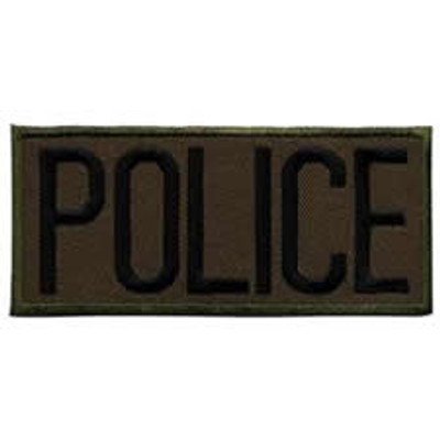 """Police Front Patch 4x2"""" RG"""