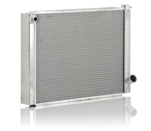 BE Cool Aluminum Circle Track GM Single Pass Radiator 28 X 19 2 Row 35036