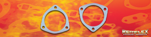 "Remflex Exhaust Flange Gaskets 3-Bolt 2 15/16"" Port 3 7/32"" Spacing 8084"