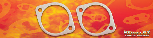 "Remflex Exhaust Flange Gaskets 2-Bolt 3"" Port 3.78"" Spacing Pair 8075"