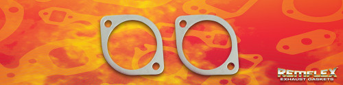 "Remflex Exhaust Flange Gaskets 2-Bolt 2 7/8"""" Port 3.78"" Spacing Pair 8076"