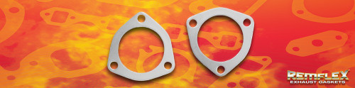 "Remflex Exhaust Flange Gaskets 3-Bolt 2 1/2"" Port 3.00"" Spacing Pair Doug Thorley 8077"