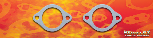 "Remflex Exhaust Flange Gaskets 2-Bolt 2 1/2"" Port 3 3/4"" Spacing Pair 8081"