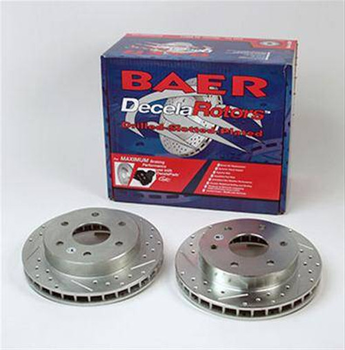 Baer Sport Front Brake Rotors 1997-2004 Ford F150 F-150 4WD Slotted Cross Drilled Pr 54042-020